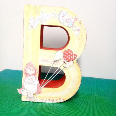 Letra B, decorada, infantil